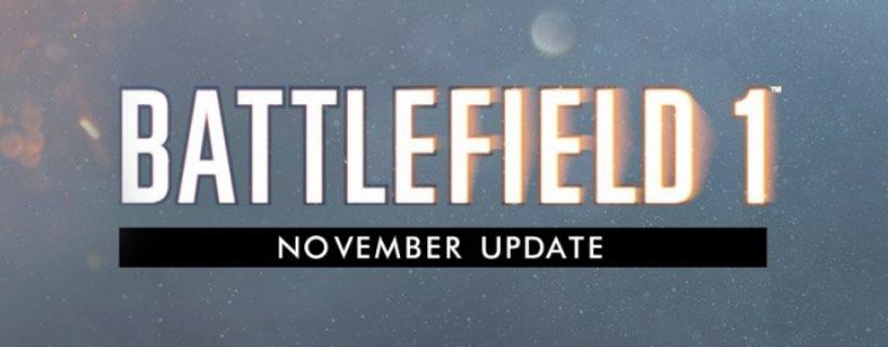 Batttlefield 1: Letzte Inhalte für das November Update sind bekannt