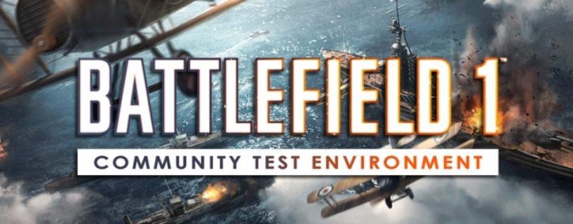 Community Test Environment für Battlefield 1 wird vorläufig abgeschaltet