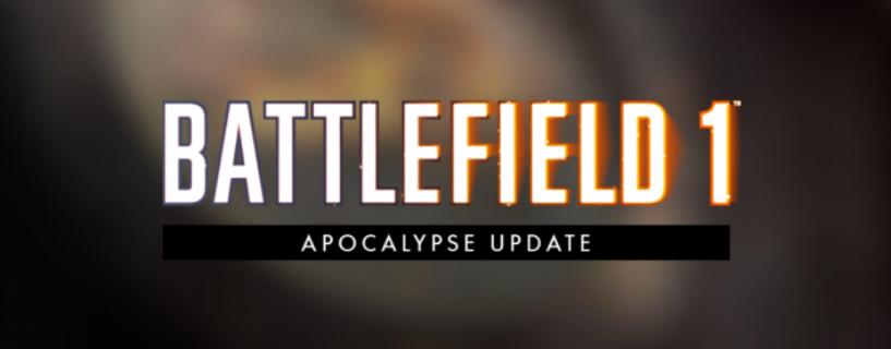 Battlefield 1: Das Februar/ Apocalypse Update ist da – Wir haben die offiziellen Changenotes und mehr für euch!