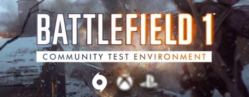 DICE schaltet Battlefield 1 Community Test Environment für Konsolen ab