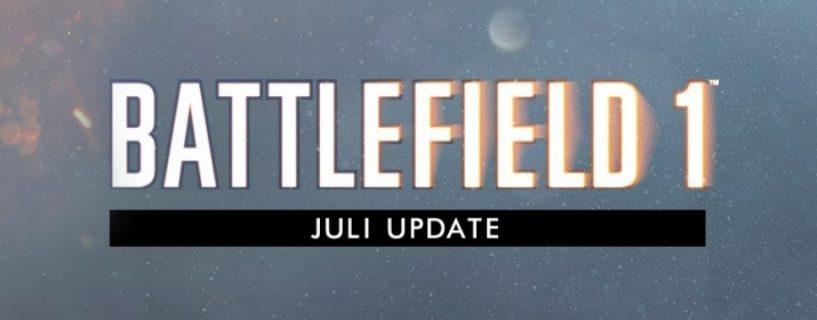 Battlefield 1 Juli / Summer Update erscheint heute!