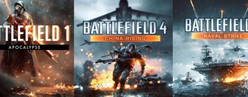 Battlefield 1 Apocalypse & Battlefield 4 Naval Strike + China Rising jetzt kostenlos verfügbar
