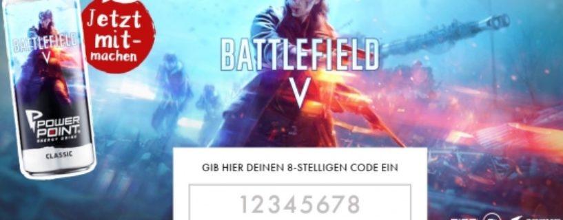 Battlefield V Engery Drink trinken und tolle Preise gewinnen