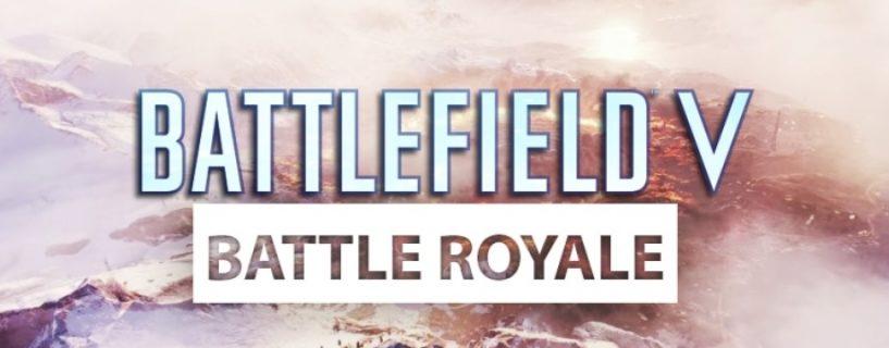 """Battlefield V: Zahlreiche Informationen zum Battle Royale Spielmodus """"Firestorm"""" geleakt"""