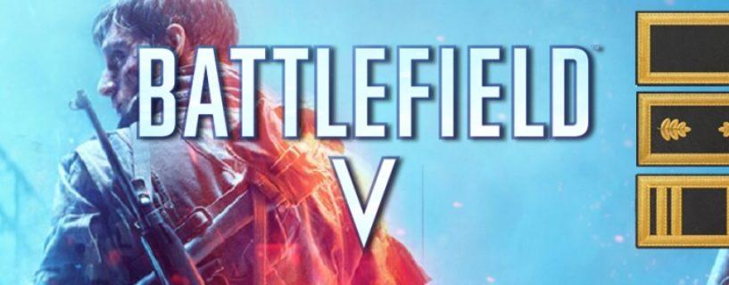 DICE kündigt neues Rang-System samt extremer Rang-Erhöhung für Battlefield V an
