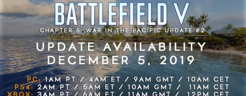 Umstrittenes Battlefield V Update 5.2 erscheint Morgen plus Changelog, Update Zeiten und Downloadgrößen