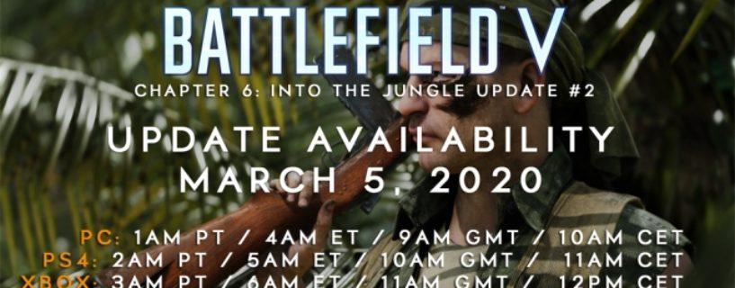 Battlefield V Update 6.2 erscheint am Donnerstag! Changelog, Update Zeiten und mehr schon Heute!