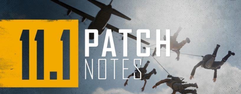 PUBG: PC-Update 11.1 – Jetzt auf den Liveservern verfügbar