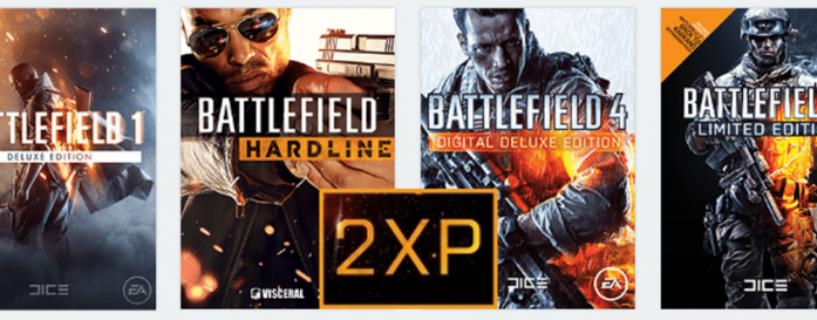 "Double XP ""dauerhaft"" für Battlefield 1, Battlefield 4, Battlefield 3 und Battlefield Hardline aktiv"
